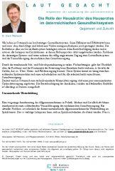 Icon of Die Rolle der Hausärztin/des Hausarztes im österreichischen Gesundheitssystem