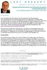"""Icon of Konsumenteninformation und Konsumentenschutz im Gesundheitswesen """"Beipacktext auf Mausklick"""""""