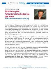 Icon of Einführung der Patientensicherheitsziele der WHO
