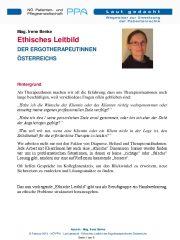Icon of Letter zum Ethischen Leitbild der ErgotherapeutInnen
