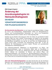 Icon of Anordnungsbefugnis Heimaufenthaltsgesetz Pflegefachkraefte Irmgard Angerer Expertenletter Pflege