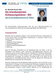 Icon of Die Interdisziplinäre Entlassungsstation - IES