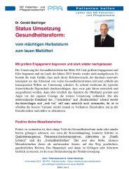 Icon of Status Umsetzung Gesundheitsreform: