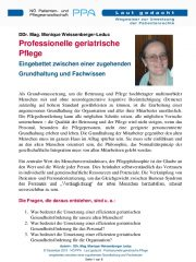 Icon of Professionelle geriatrische Pflege