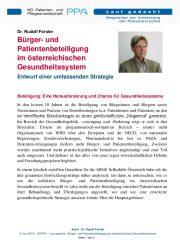 Icon of Bürger- und Patientenbeteiligung im österreichischen Gesundheitssystem