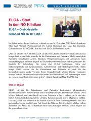 Icon of ELGA - Start in den NÖ Kliniken