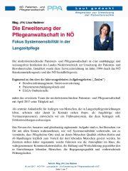 Icon of Die Erweiterung der Pflegeanwaltschaft in NÖ