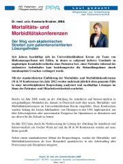 Icon of Mortalitäts- und Morbiditätskonferenzen
