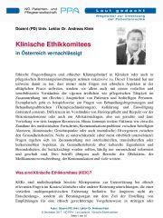 Icon of Klinische Ethikkomitees
