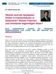 Icon of Fehler und Critical Incidents- Fallberichte