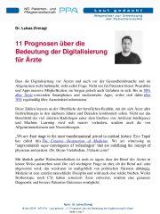 Icon of 11 Prognosen über die Bedeutung der Digitalisierung für Ärzte