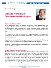 Icon of Digitaler Workflow in Gesundheitseinrichtungen