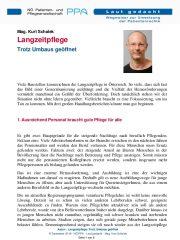 Icon of Langzeitpflege: Trotz Umbaus geöffnet
