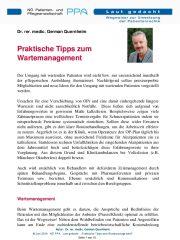 Icon of Praktische Tipps zum Wartemanagement