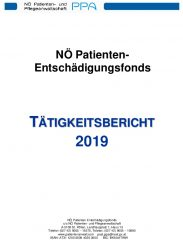 Icon of Patienten Entschädigungsfonds Tätigkeitsbericht 2019