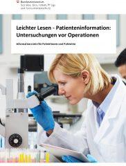 Icon of Leichter Lesen - Untersuchungen vor Operationen
