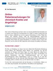 Icon of Online-Patientenschulungen für chronisch Kranke und Angehörige