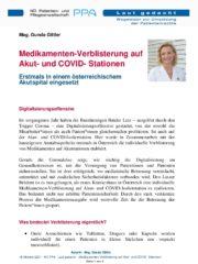 Icon of Medikamenten-Verblisterung Auf Akut- Und COVID- Stationen Gunda Gittler