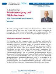 Icon of Primärversorgung und EU-Aufbaufonds