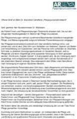 """Icon of Offener Brief an BMin Dr. Mückstein betreffend """"Pflege(personal)notstand"""""""