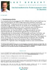 Icon of Das Sachwalterrechts-Änderungsgesetz 2006 im Überblick