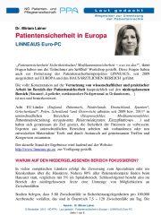 Icon of Patientensicherheit In Europa