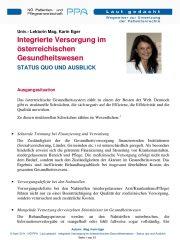 Icon of Integrierte Versorgung im österreichischen Gesundheitswesen