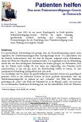 Icon of Das neue Patientenverfügungs-Gesetz in Österreich