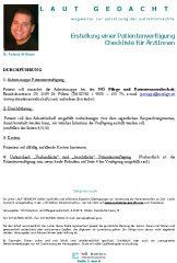 Icon of Erstellung einer Patientenverfügung Checkliste für ÄrztInnen