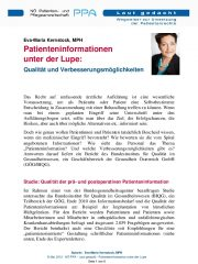 Icon of Patienteninformation unter der Lupe