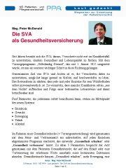 Icon of Die SVA als Gesundheitsversicherung