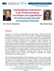 Icon of Interdisziplinäre Ambulanzen in der Primärversorgung  von Kindern und Jugendlichen