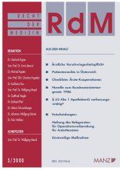 Icon of Recht der Medizin