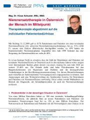 Icon of Nierenersatztherapie in Österreich
