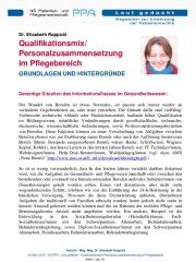 Icon of Qualifikationsmix/Personalzusammensetzung im Pflegebereich