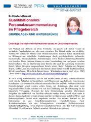 Icon of Qualifikationsmix Pflegebereich Rappold Expertenletter Pflege
