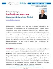 Icon of Qualitas Interview Gerald Bachinger Letter Patientenanwalt