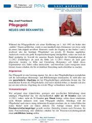 Icon of Pflegegeld Fraunbaum Expertenletter Pflege