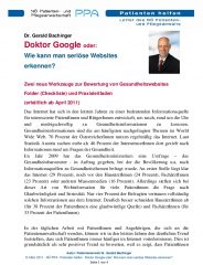 Icon of Doktor Google Serioese Websites Dr Bachinger A
