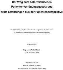 Icon of Der Weg zum österreichischen Patientenverfügungsgesetz