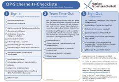 Icon of OP - Sicherheits - Checkliste