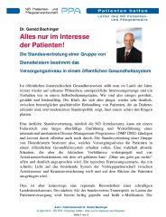 Icon of Alles Nur Im Interesse Der Patienten Gerald Bachinger Letter Patientenanwalt