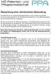 Icon of Informationsblatt bei Zahnarztbeschwerden