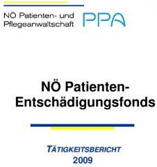 Icon of Patienten Entschädigungsfonds Tätigkeitsbericht 2009