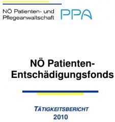 Icon of Patienten Entschädigungsfonds Tätigkeitsbericht 2010