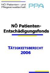 Icon of Patienten Entschädigungsfonds Tätigkeitsbericht 2006