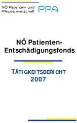 Icon of Patienten Entschädigungsfonds Tätigkeitsbericht 2007