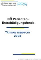 Icon of Patienten Entschädigungsfonds Tätigkeitsbericht 2008