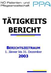 Icon of Tätigkeitsbericht 2003