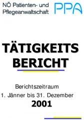 Icon of Tätigkeitsbericht 2001